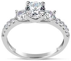 Silvego Zásnubný prsteň CLAIRE zo striebra sa Swarovski Zirconia SHZR301 striebro 925/1000