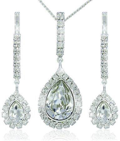 MHM Strass zestaw kolczyki i naszyjnik kryształ Avril 3497 srebro 925/1000