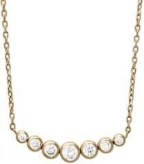 Michael Kors Jemný pozlátený náhrdelník z ocele s kryštálmi MKJ4952710