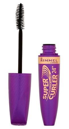 Rimmel Supercurler 24HR dúsító és göndörítő hatású szempillaspirál 12 ml (árnyalat Extra Black)