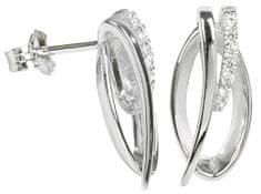 Silver Cat Srebra kolczyków z kryształami SC162 srebro 925/1000