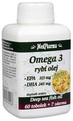 MedPharma Omega 3 Rybí olej Forte (EPA 315 mg + DHA 245 mg) 60 tob. + 7 tob. ZDARMA