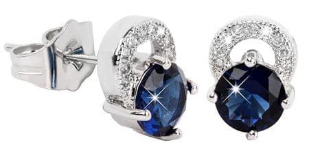 Troli Piękne kolczyki migoczące Bluee Crystaly