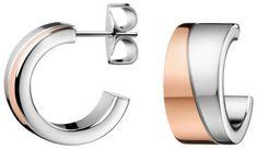Calvin Klein Bicolor náušnice krúžky Hook KJ06PE200100