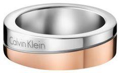 Calvin Klein Bicolor prsteň Hook Thin KJ06PR20010