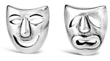 Silvego Uhani iz srebrne gledališke maske PRM11187 srebro 925/1000