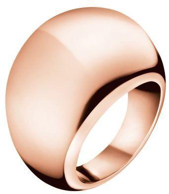 Calvin Klein Brąz Pierścień Ellipse KJ3QPR1001 (obwód 57 mm)