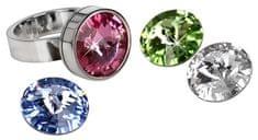 Levien stalowy pierścień Change & Go 3 kryształy na giełdzie