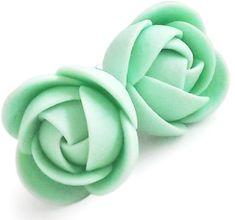 Troli Zelenkavej náušnice puzetky kytičky