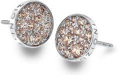 Hot Diamonds Stříbrné náušnice Hot Diamonds Emozioni Scintilla Champagne DE454 stříbro 925/1000