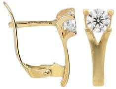 Brilio Zlaté náušnice s kryštálom 236 001 00894 - 1,80 g žlté zlato 585/1000