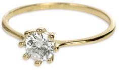 Brilio Zlatý zásnubný prsteň s kryštálom 226 001 00934 - 1,30 g žlté zlato 585/1000