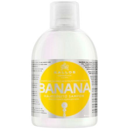 Kallos Szampon wzmacniający ekstrakty babki (banan wzmacnianie szampon multiwitaminowy kompleks) 1000 ml