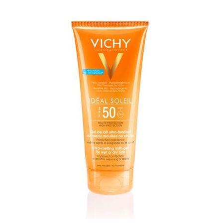 Vichy Ultratající żelu mlecznego wrażliwej skóry SPF 50 Idéal Soleit (Ultra topnienia mleczny żel) 200 ml