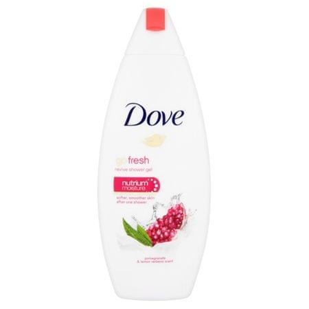 Dove Odżywczy żel prysznicowa z granatu i zapach cytryny werbeny Idź Ser (ożywić żel pod prysznic) 250 ml
