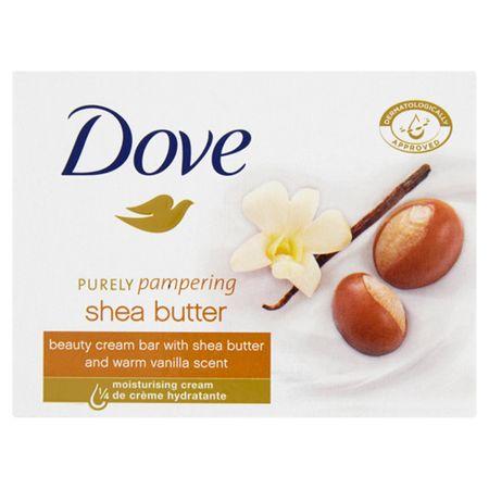 Dove Krémszappan Purely Pampering shea vajjal és vanília illattal (Beauty Cream Bar) 100 g