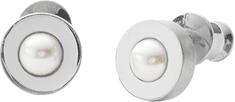 Skagen Dámske oceľové náušnice s perličkou SKJ0796040