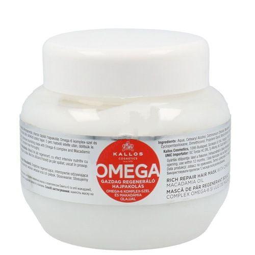 Kallos Regenerační maska na vlasy s omega-6 komplexem a makadamia olejem (Omega Hair Mask) (Objem 275 ml)