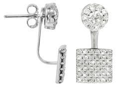 JwL Luxury Pearls Elegantné strieborné dvojnáušnice sa zirkónmi JL0198 striebro 925/1000