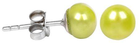 JwL Luxury Pearls Ezüst fülbevaló zöld színű igazgyönggyel JL0219 ezüst 925/1000