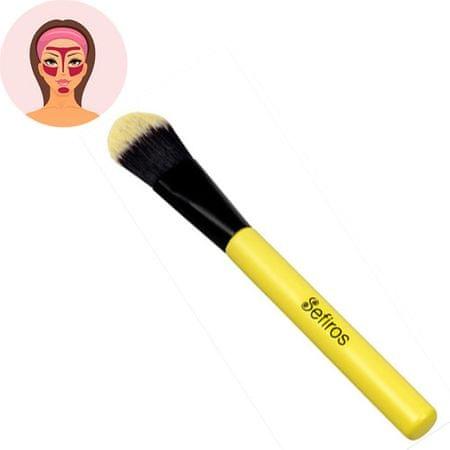 Sefiros Pastell egyenes alapozó ecset nyéllel (Foundation Brush Pastell)