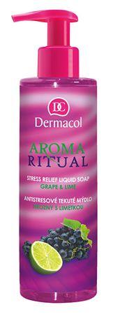 Dermacol Antistresové tekuté mydlo hrozno s limetkou Aroma Ritual (Stress Relief Liquid Soap) (Objem 500 ml N