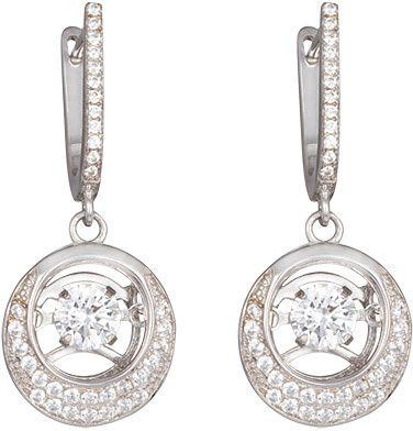 Preciosa Srebrni uhani s kamni Shimmer 5185 00 srebro 925/1000