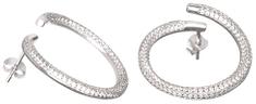 Preciosa Fashion strieborné náušnice s kryštálmi Finespun 5200 00 striebro 925/1000