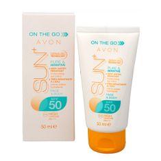 Avon Mleczko nawilżające wodoodporny SPF 50 Ni (Sun nawilżający płukanka) 50 ml