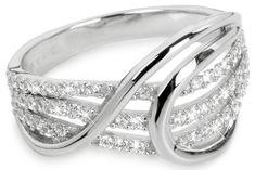 Silver Cat Srebrni prstan z cirkoni SC186 srebro 925/1000