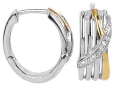 Silver Cat Aranyozott ezüst fülbevaló cirkónia kővel SC191 ezüst 925/1000
