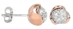 Silver Cat Aranyozott ezüst fülbevaló cirkónia kővel SC185 ezüst 925/1000