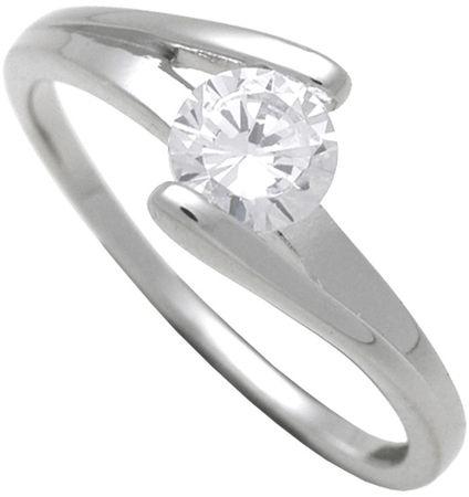 Brilio Silver Srebrni zaročni prstan 7111048 (Vezje 52 mm) srebro 925/1000