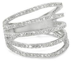 Brilio Silver Srebrni prstan z cirkoni 31G3098 srebro 925/1000