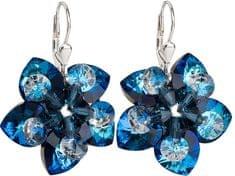Evolution Group Kolczyki niebieskie kwiaty 31.130,5 Bermudy srebro 925/1000