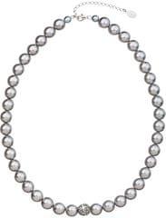 Evolution Group Perlový náhrdelník 32011.3 light grey stříbro 925/1000