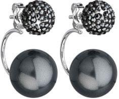 Evolution Group Dupla fülbevaló 31179.5 hematit ezüst 925/1000