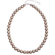 Evolution Group Perlový náhrdelník 32011.3 bronze stříbro 925/1000