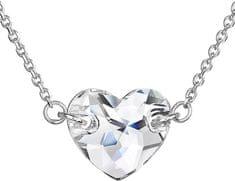 Evolution Group Náhrdelník Srdce 32020.1 krystal stříbro 925/1000