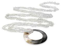 JwL Luxury Pearls Multifunkčné dlhý šál z bielych perál JL0239
