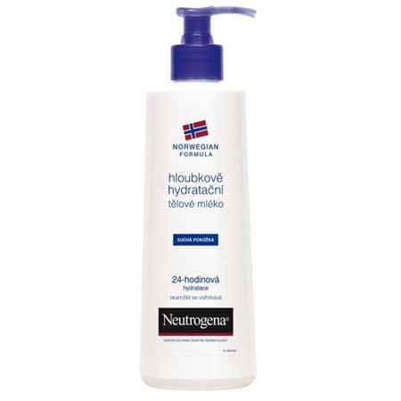 Neutrogena Hloubkově hydratační tělové mléko pro suchou pokožku 24 H (Odstín 400 ml)