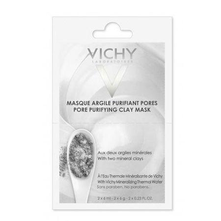 Vichy Chemiczne gliny Maseczka kosmetyczna (maska porów oczyszczania gliny) 2 x 6 ml