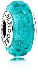 Pandora Türkiz üveggyöngy 791655 ezüst 925/1000