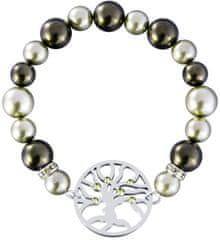 Preciosa Bransoleta ze stali z perłami 7299 Olive 53