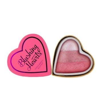 Makeup Revolution Hearts szív formájú arcpirosító (Blushing) 10 g