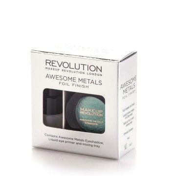 Makeup Revolution Sada na tvorbu metalických stínů Awesome Metal (Foil Finish) 1,5 g (Odstín Black Diamond)