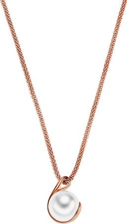 Skagen Vörös arannyal bevont nyaklánc gyönggyel SKJ0652791