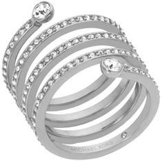 Michael Kors Nemesacél gyűrű kristályokkal MKJ4723040