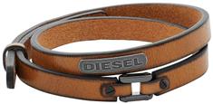 Diesel Dvojitý kožený náramek DX0984040