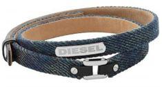 Diesel Pánsky denim náramok DX0976040